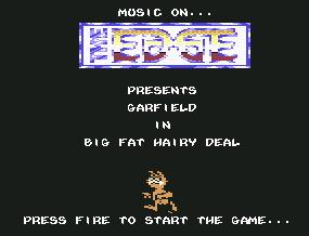 Pantallazo de Garfield in Big Fat Hairy Deal para Commodore 64