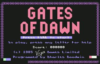 Pantallazo de Gates of Dawn para Commodore 64