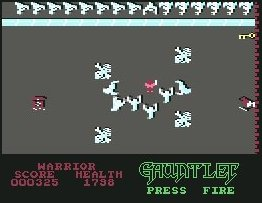 Pantallazo de Gauntlet para Commodore 64