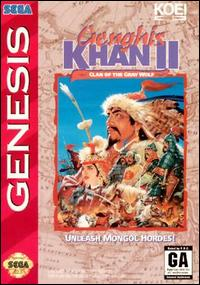 Caratula de Genghis Khan II: Clan of the Gray Wolf para Sega Megadrive