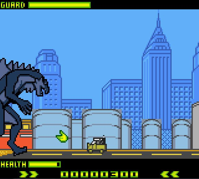 Pantallazo de Godzilla: The Series para Game Boy Color