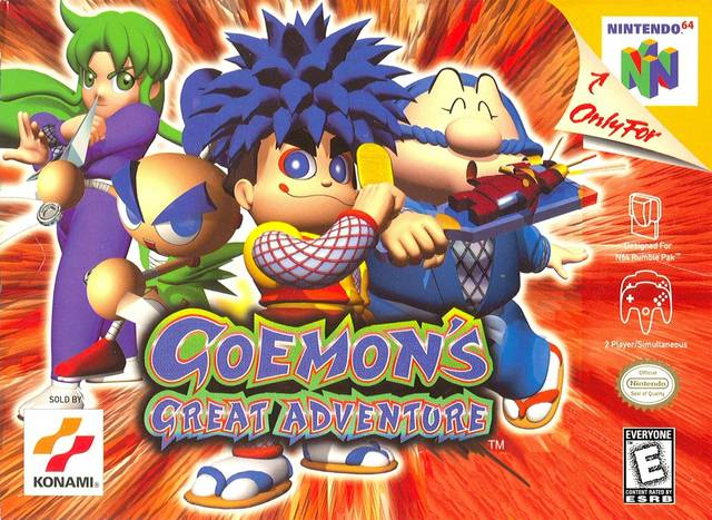 Caratula de Goemon's Great Adventure para Nintendo 64