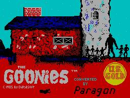 Pantallazo de Goonies, The para Spectrum