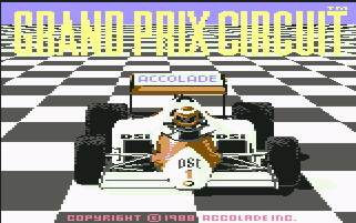 Pantallazo de Grand Prix Circuit para Commodore 64