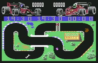 Pantallazo de Grand Prix Simulator para Commodore 64