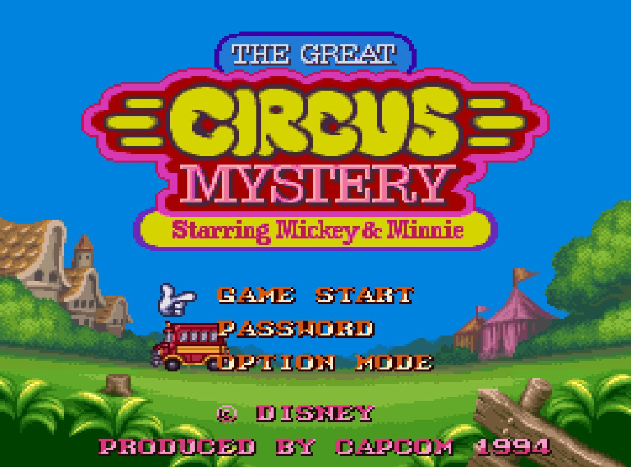 Pantallazo de Great Circus Mystery starring Mickey and Minnie, The para Super Nintendo