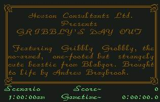 Pantallazo de Gribbly´s Day Out para Commodore 64