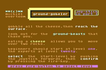 Pantallazo de Ground Gobeler para Commodore 64