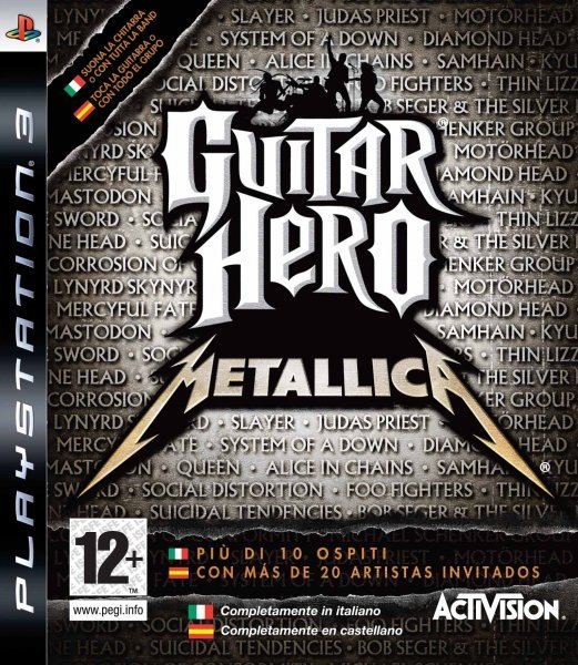 Caratula de Guitar Hero: Metallica para PlayStation 3