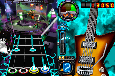 Pantallazo de Guitar Hero: On Tour Decades para Nintendo DS