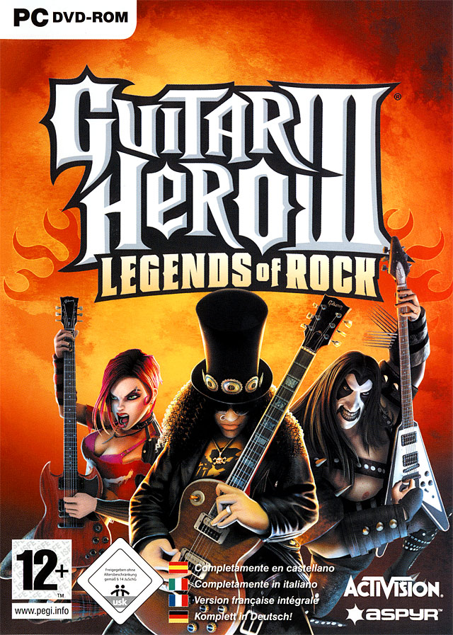 Caratula de Guitar Hero III: Legends Of Rock para PC