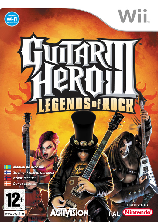 Caratula de Guitar Hero III: Legends of Rock para Wii
