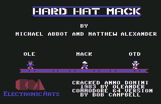 Pantallazo de Hard Hat Mack para Commodore 64