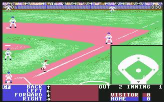 Pantallazo de Hardball para Commodore 64