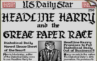 Pantallazo de Headline Harry and The Great Paper Race para PC