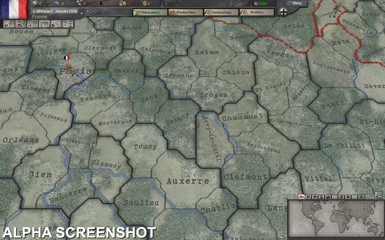 Pantallazo de Hearts of Iron III para PC