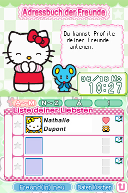 Pantallazo de Hello Kitty Daily para Nintendo DS