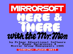 Pantallazo de Here & There With The Mr Men para Amstrad CPC