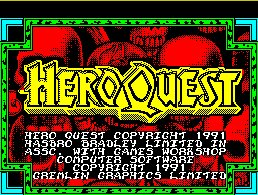 Pantallazo de Hero Quest para Spectrum