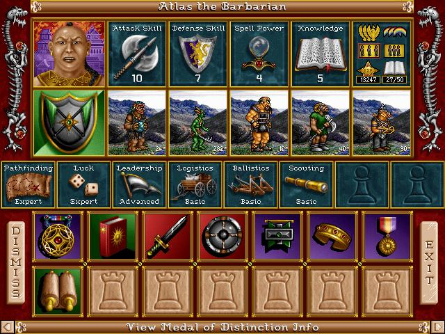 Pantallazo de Heroes of Might and Magic II: The Price of Loyalty para PC