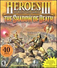 Caratula de Heroes of Might and Magic III: The Shadow of Death para PC