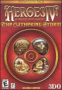 Caratula de Heroes of Might and Magic IV: The Gathering Storm para PC