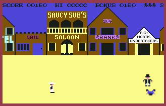 Pantallazo de Highnoon para Commodore 64
