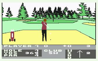 Pantallazo de Hole In One para Commodore 64