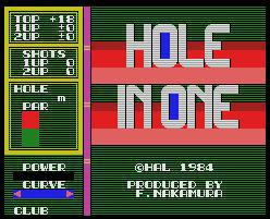 Pantallazo de Hole In One para MSX