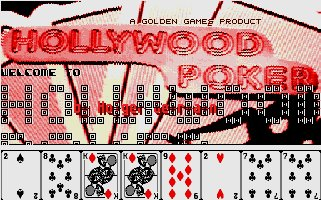 Pantallazo de Hollywood Poker para Atari ST
