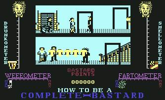 Pantallazo de How to Be a Complete Bastard para Commodore 64