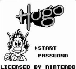 Pantallazo de Hugo para Game Boy