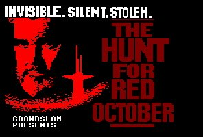 Pantallazo de Hunt For Red October: The Movie para Amstrad CPC