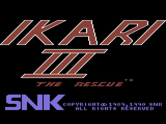 Pantallazo de Ikari III: The Rescue para Commodore 64