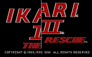 Pantallazo de Ikari Warriors III: The Rescue para PC