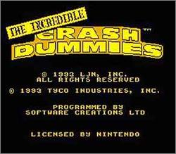 Pantallazo de Incredible Crash Dummies, The para Nintendo (NES)