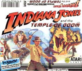 Caratula de Indiana Jones And The Temple Of Doom para Amstrad CPC