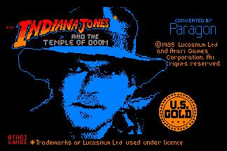 Pantallazo de Indiana Jones And The Temple Of Doom para Amstrad CPC