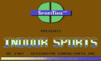 Pantallazo de Indoor Sports para Commodore 64