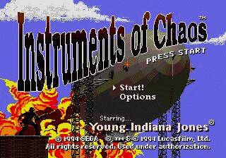 Pantallazo de Instruments of Chaos Starring Young Indiana Jones para Sega Megadrive