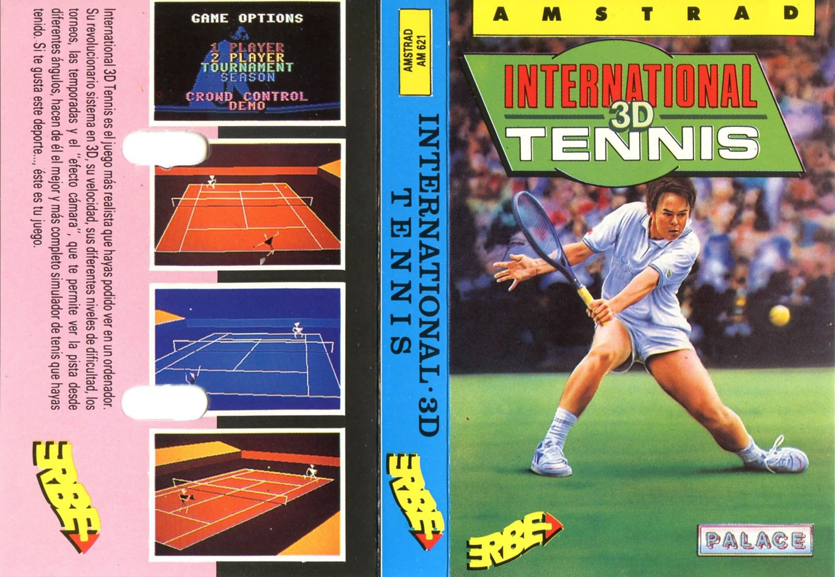 Caratula de International 3d Tennis para Amstrad CPC