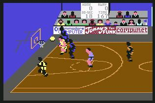 Pantallazo de International Basketball para Commodore 64