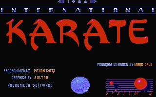 Pantallazo de International Karate para Atari ST