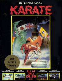 Caratula de International Karate para Commodore 64