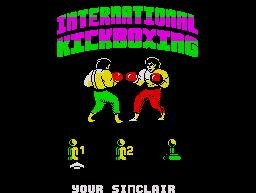 Pantallazo de International Kickboxing para Spectrum