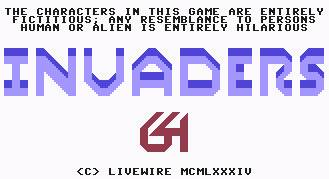 Pantallazo de Invaders 64 para Commodore 64