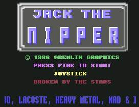 Pantallazo de Jack the Nipper para Commodore 64