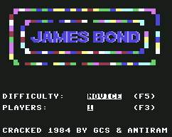 Pantallazo de James Bond 007 para Commodore 64