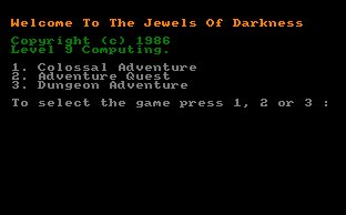 Pantallazo de Jewels Of Darkness, Pack para Amstrad CPC