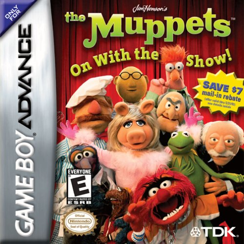 Caratula de Jim Henson's The Muppets: On With the Show! para Game Boy Advance